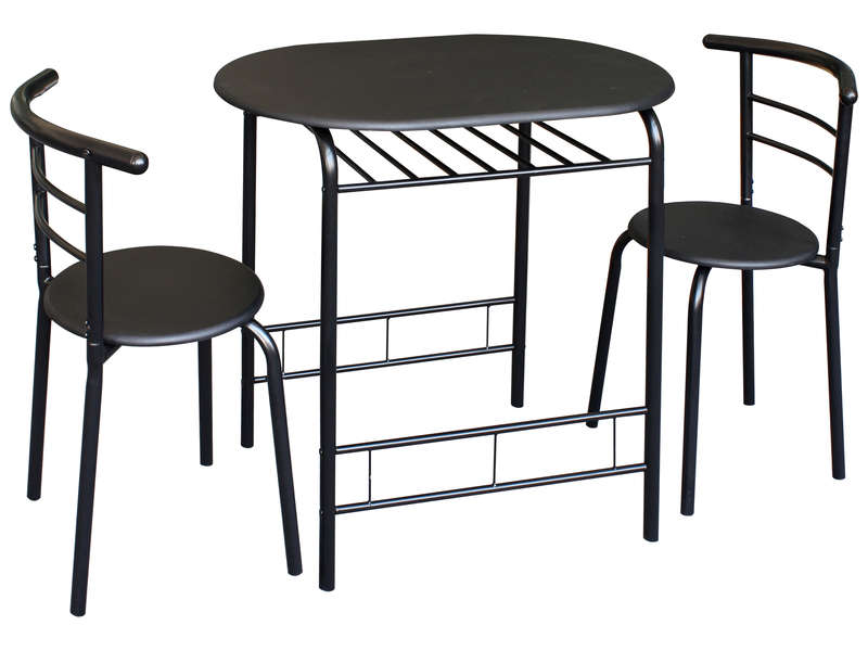 Ensemble Table Et 2 Chaises De Cuisine Patrick Coloris Noir Vente De Ensemble Table Et Chaise Conforama