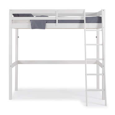 Lit Mezzanine 90x190 Cm Andy Coloris Blanc Vente De Lit Enfant Conforama