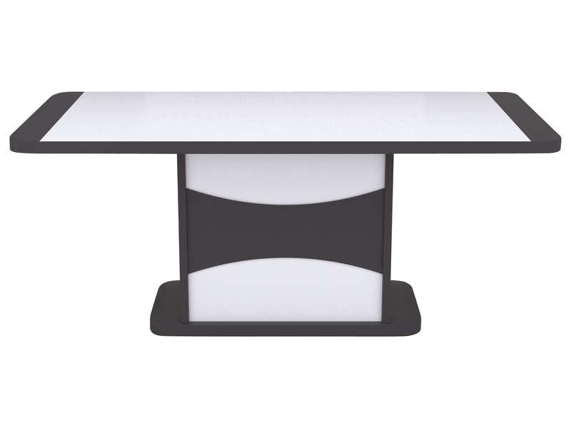 Table 180 Cm Avec Allonge Tiago Coloris Blanc Gris Vente De Table Conforama