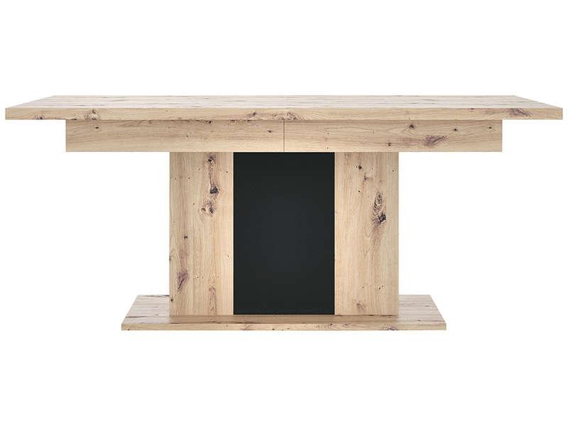 Table 180 Cm Avec Allonge Hawai Imitation Chene Naturel Vente De Bar Et Tabouret De Bar Conforama