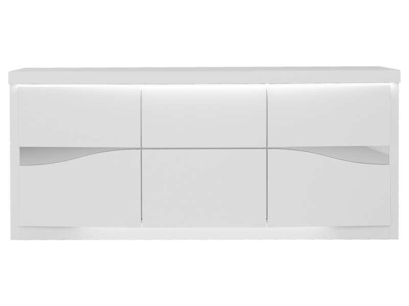 Buffet 3 Portes Spirit Coloris Blanc Vente De Buffet Bahut Vaisselier Conforama