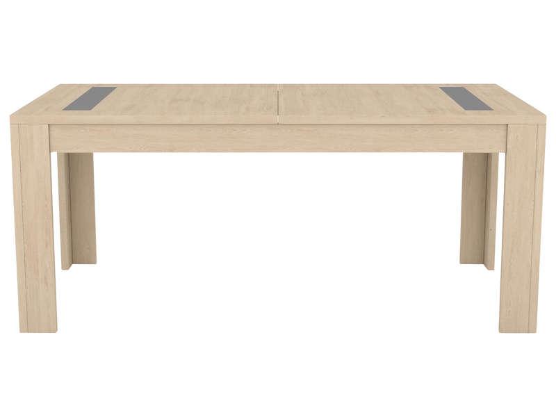 Table 181 Cm Avec Allonge Boston Coloris Chene Naturel Vente De Table Conforama
