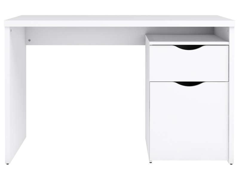 Bureau 120 Cm Tempo Junior Coloris Blanc Vente De Bureau Conforama