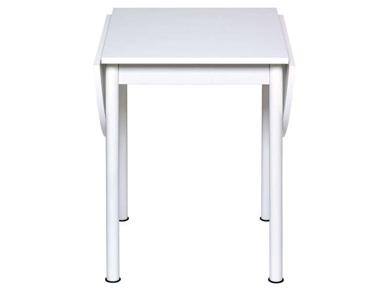 Table Avec Allonges Rabattables Flipp Coloris Blanc Vente De Table De Cuisine Conforama