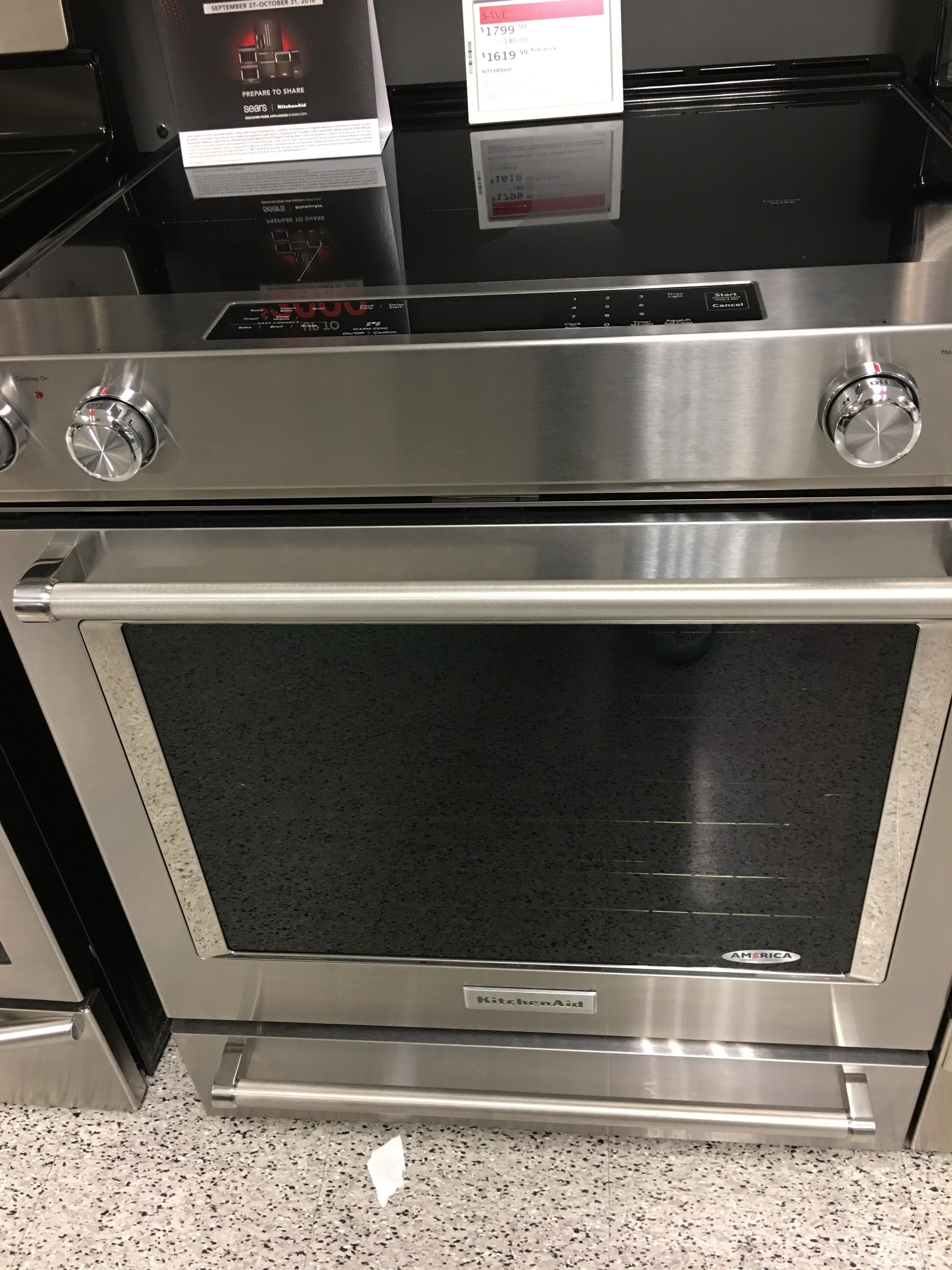 kitchen aid double oven kitchenaid stainless steel electric