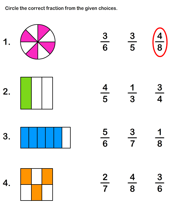 Number Names Worksheets printable fraction worksheets Free – Naming Fractions Worksheet