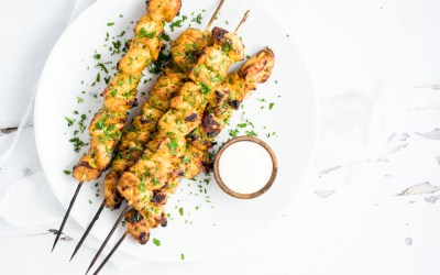 Grilled Mango Curry Chicken Skewers {Cooking and Beer}
