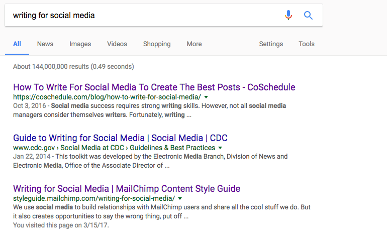 SERP title tags and meta descriptions
