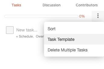 Task templates marketing calendar