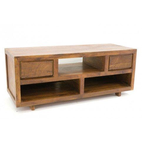 meuble tv 2 tiroirs gonda de style ethnique en palissandre