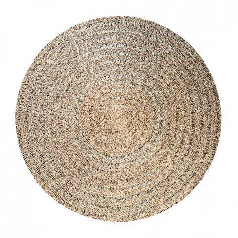 tapis boheme chic naturel en raphia agave palmier