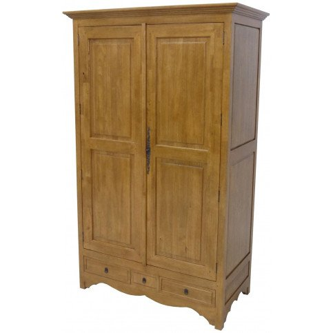 armoire penderie style campagne 3 tiroirs 2 portes bois massif cottage