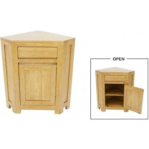 meuble d angle style scandinave 1 tiroir 1 porte bois massif skur