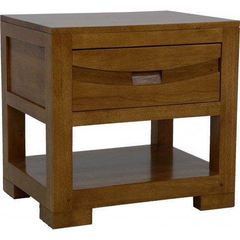 chevet style ethnique 1 tiroir bois massif kenya