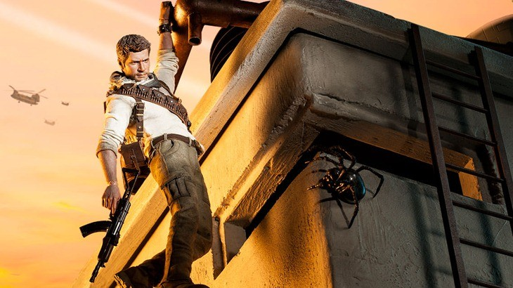 This Nathan Drake figure comes with dramatic scarf action 2