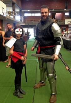 Unknown as Kitana and her dad, a member of Durban's Sword & Shield Club.
