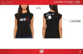 Ladies Handprint Tee - LARGE