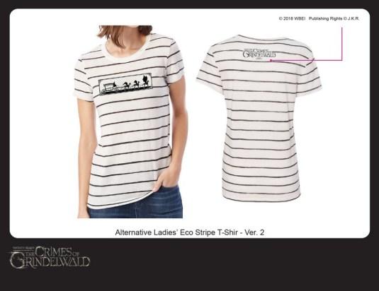 FantasticBeasts2_Ladies Striped Tee