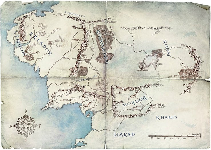 Amazon releases a new map which gives us some clues about their planned Lord of the Rings series 5