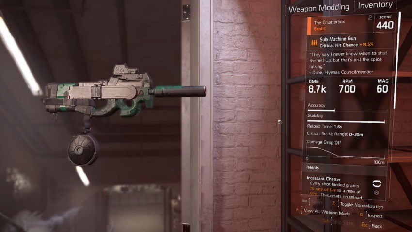 The Division 2 - How to get the Chatterbox Exotic SMG 5