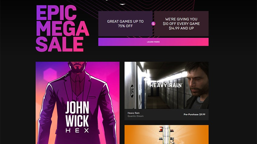 Games Seemingly Pull Out of Epic Store Sale