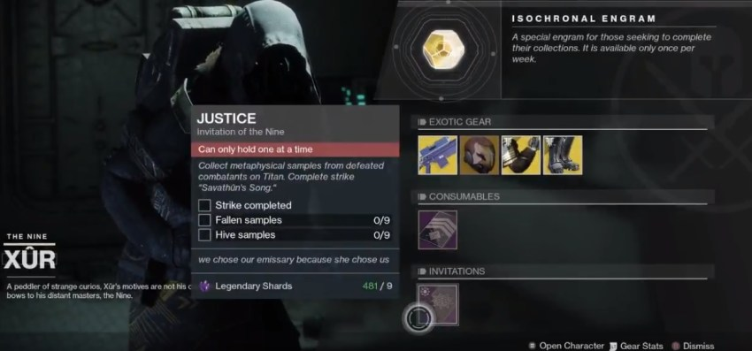 Destiny 2: Where is Xur (and whats he got for sale?) – May 17