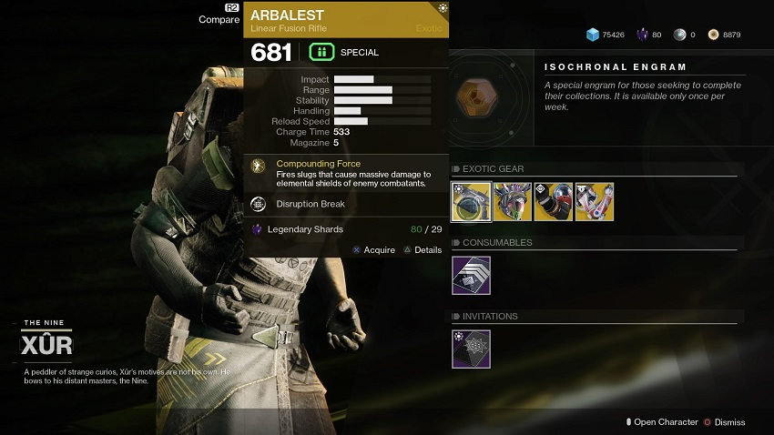 Destiny 2: Where is Xur (and whats he got for sale?) – August 23 4