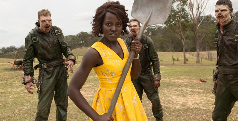 Lupita Nyong'o brings a shovel to a zombie fight in this red band trailer for Little Monsters 2