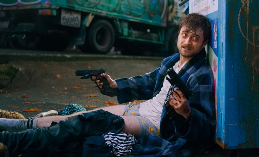 "Daniel Radcliffe gets ""really f--king weird"" in first trailer for Guns Akimbo 2"