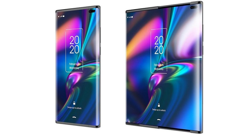 Leaked images show a new folding screen concept by TCL 5