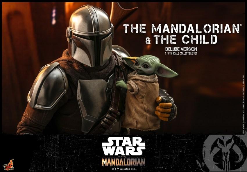 Hot Toys The Mandalorian has shiny armour, more firepower and Baby Yoda 23