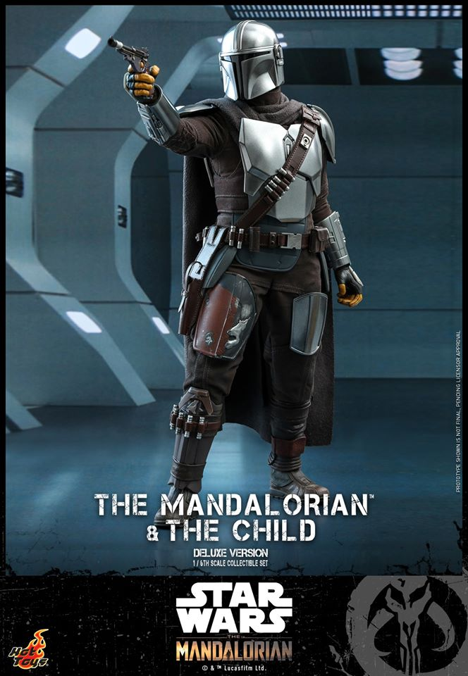 Hot Toys The Mandalorian has shiny armour, more firepower and Baby Yoda 28