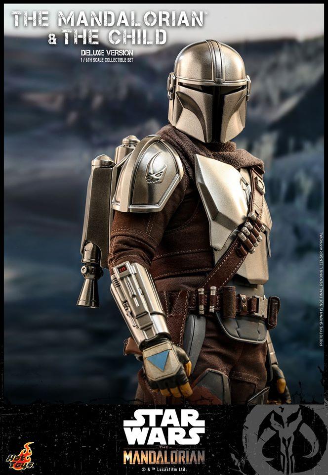 Hot Toys The Mandalorian has shiny armour, more firepower and Baby Yoda 30