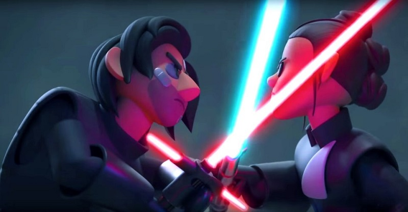 Watch an animated version of Colin Trevorrow's cancelled Star Wars film, Duel of the Fates 2