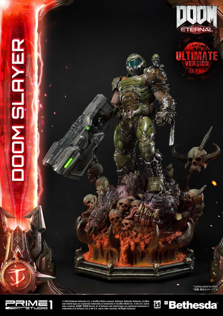 This $2400 DOOM Eternal Doom Slayer statue from Prime 1 is ready to rip and tear 40