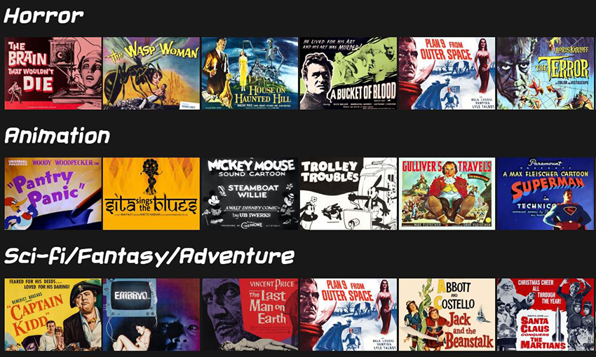 Somebody created a Netflix clone to stream classic public domain movies for free 4