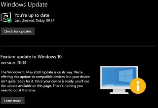 Microsoft's Windows 10 May update is currently blocked on most machines 6