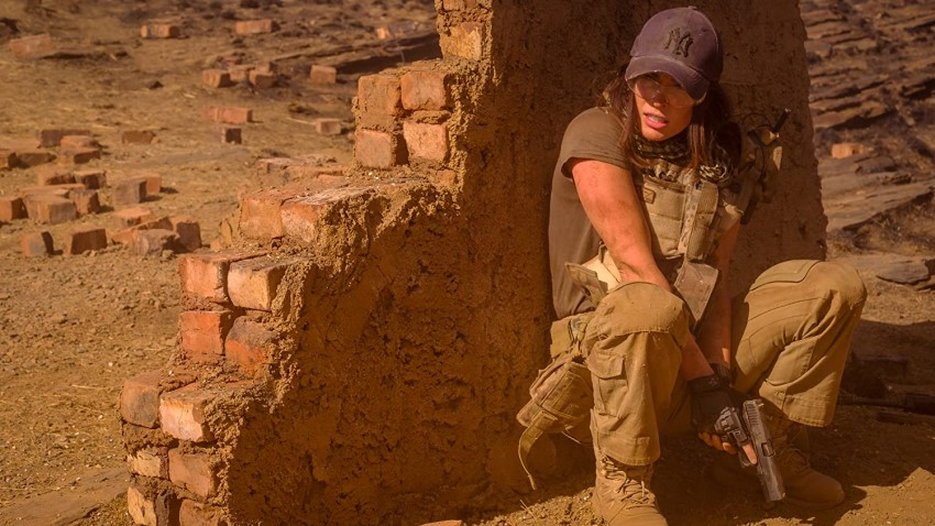 It's Megan Fox versus terrorists and killer lions in the action thriller Rogue 3