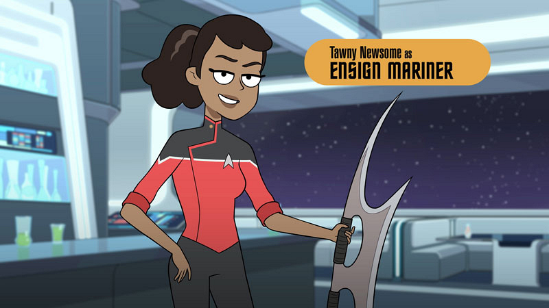 Meet the cool scrappy underdogs of CBS All-Access' animated comedy series Star Trek: Lower Decks 9