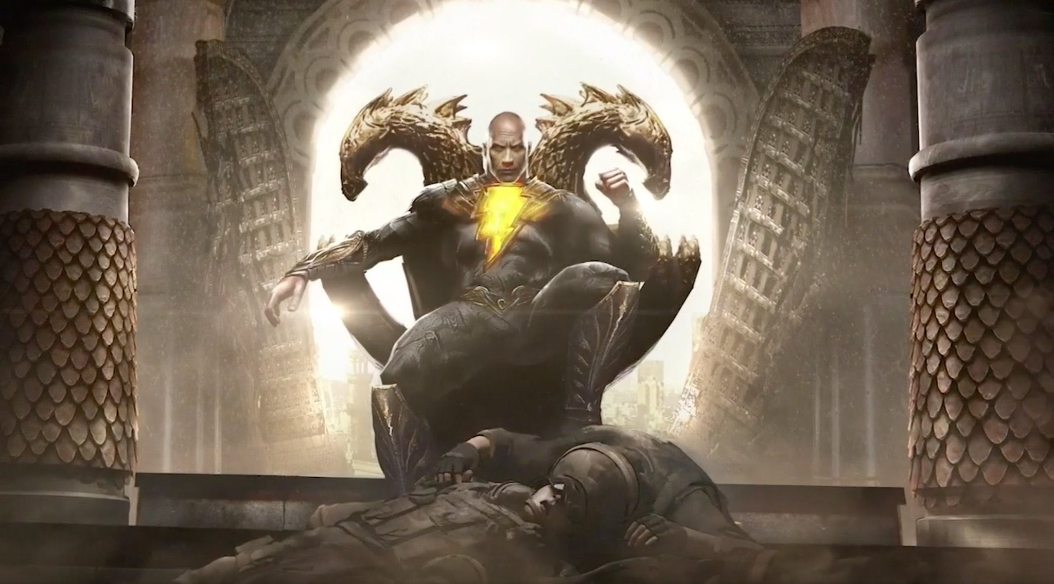Black Adam Will Face Off Against Hawkman, Dr. Fate, and Cyclone