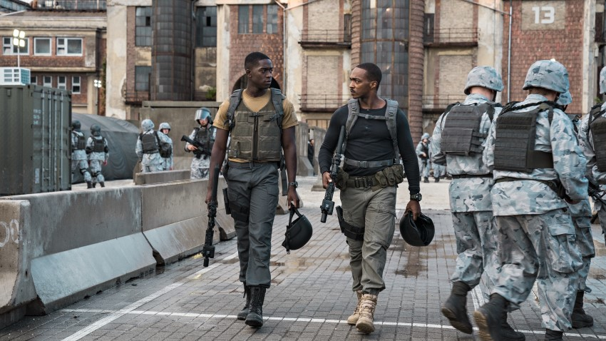 Anthony Mackie enters a deadly warzone in Netflix's sci-fi action Outside the Wire 2
