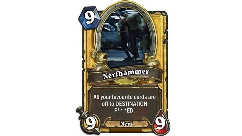 Hearthstone nerfed cards