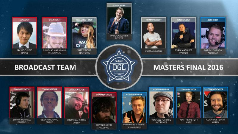 DGL Masters broadcast team