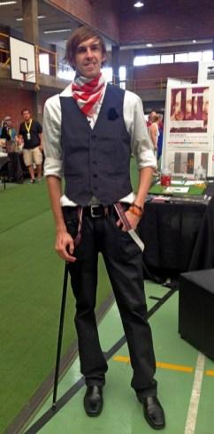 Connor as a Steampunk pirate.