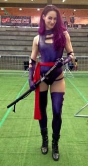 Sarah as Psylocke.