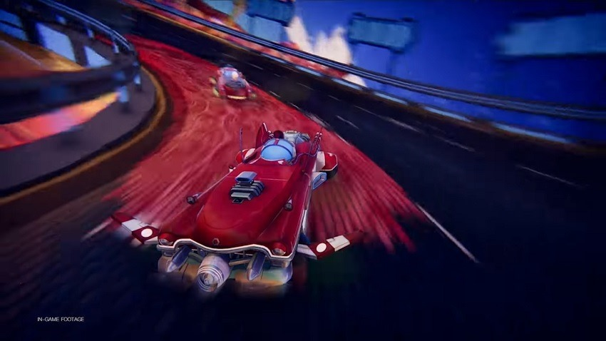 Trailblazers combines Splatoon's painting with Wipeouts speed 2