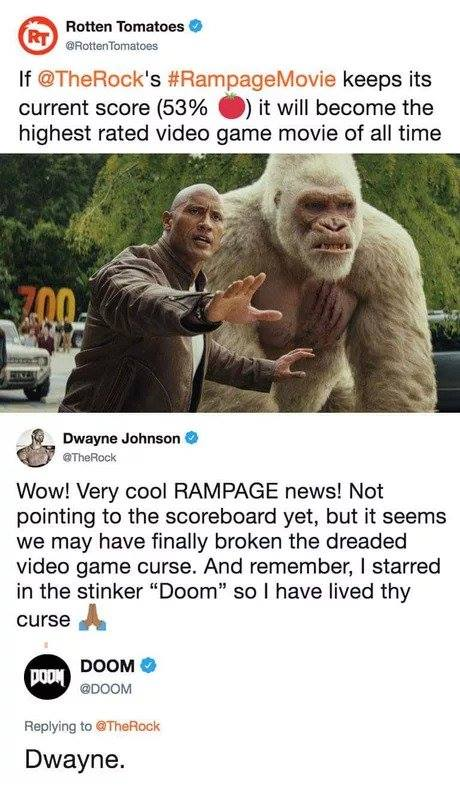 Rampage is currently the highest rated video game adaptation ever on Rotten Tomatoes 4