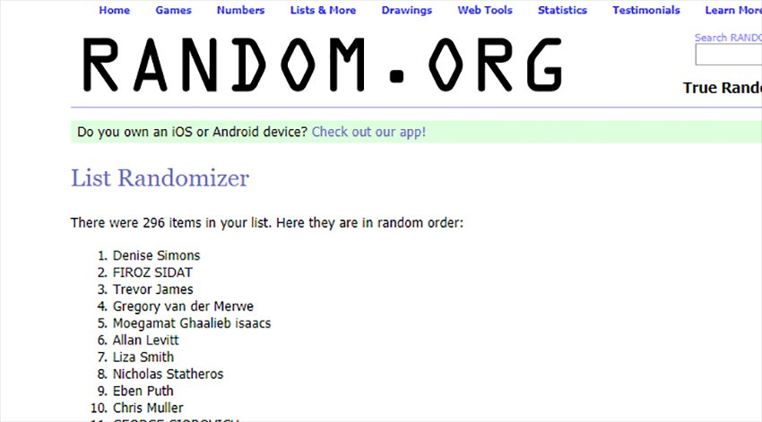 And the winners of our Tag competition are... 4
