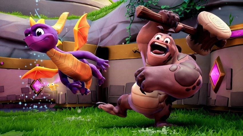 Spyro reignited will require a donwload on disc