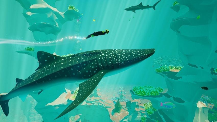 abzu-nintendo-switch-screenshot-whale-shark-coral-reef-diver